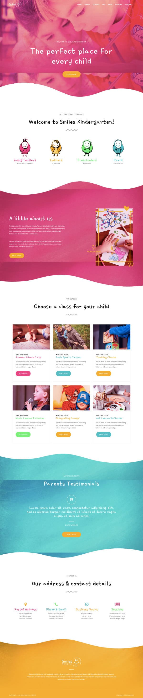 Task IT - Example Website for a Creche