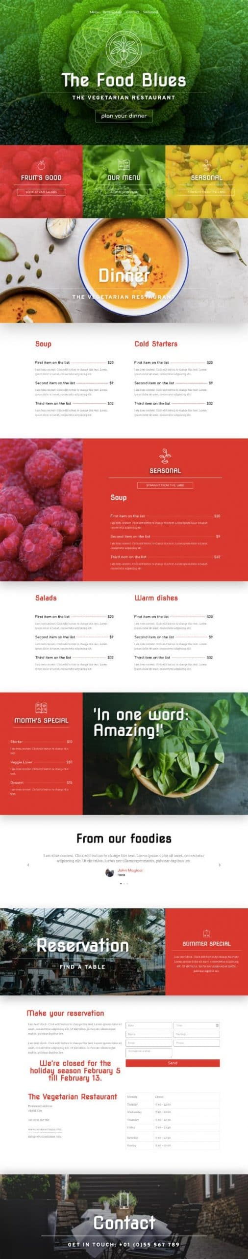 Task IT - Example Website for Restaurant
