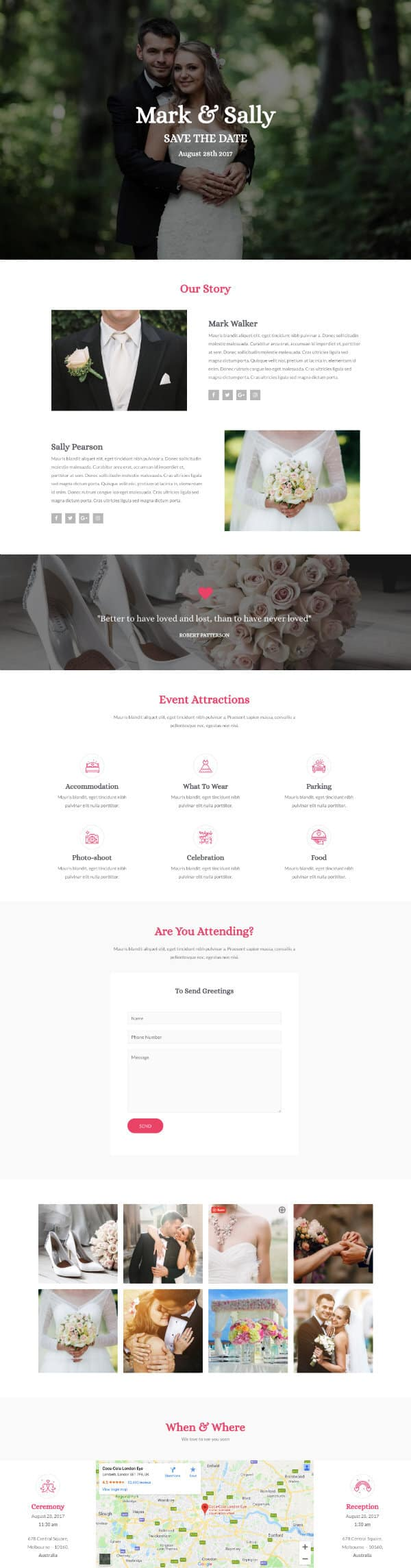 Task IT - Example Website for Wedding